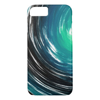 Abstract Aquamarine Twist Art Background iPhone 7 Case
