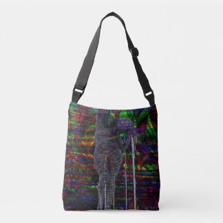 Abstract Aquarius Goddess Crossbody Bag
