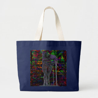 Abstract Aquarius Goddess Large Tote Bag