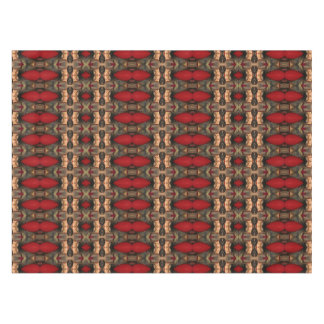 Abstract Architecture Art Coffee and Ox Blood Tablecloth