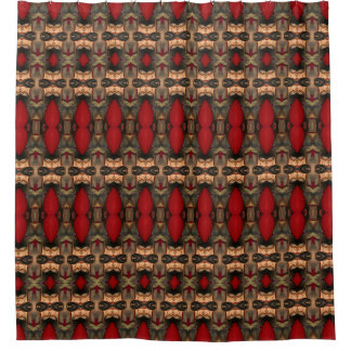 Abstract Architecture Art Coffee & Ox Blood bath Shower Curtain