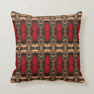 Abstract Architecture Art Coffee & Ox Blood pillow Cushion
