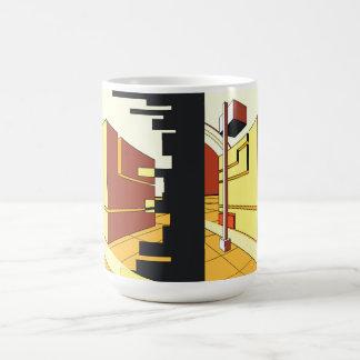 abstract architecture basic white mug