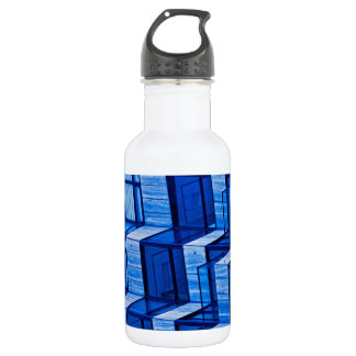 Abstract Architecture -Blue 532 Ml Water Bottle
