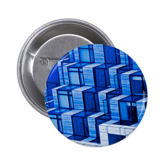 Abstract Architecture -Blue Pinback Buttons