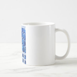 Abstract Architecture -Blue Coffee Mug