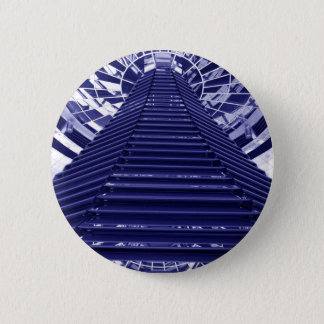 Abstract architecture design 6 cm round badge