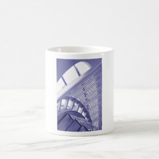 Abstract architecture design basic white mug