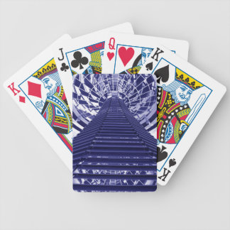 Abstract architecture design bicycle playing cards