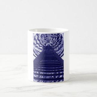 Abstract architecture design coffee mug
