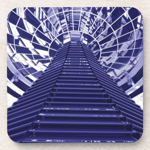 Abstract architecture design coasters