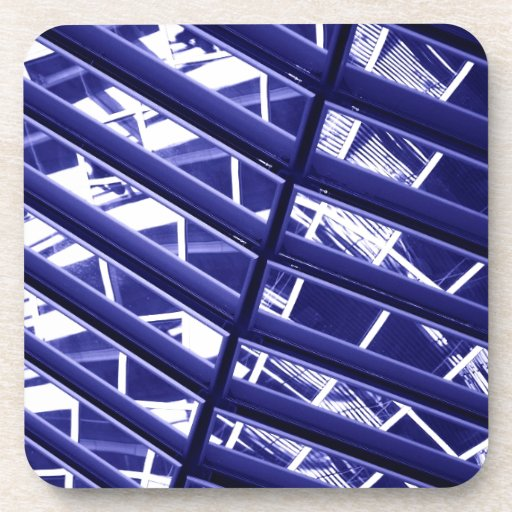 Abstract architecture design beverage coasters