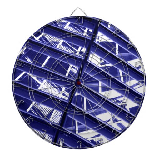 Abstract architecture design dartboard