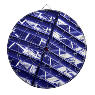 Abstract architecture design dartboard with darts