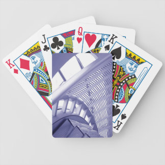 Abstract architecture design deck of cards