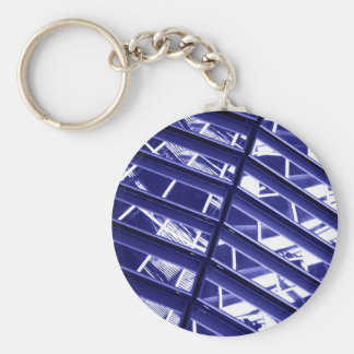 Abstract architecture design key ring