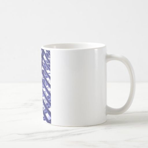 Abstract architecture design mug