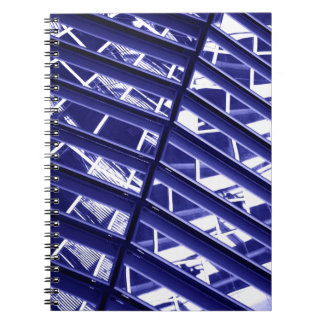 Abstract architecture design spiral notebook