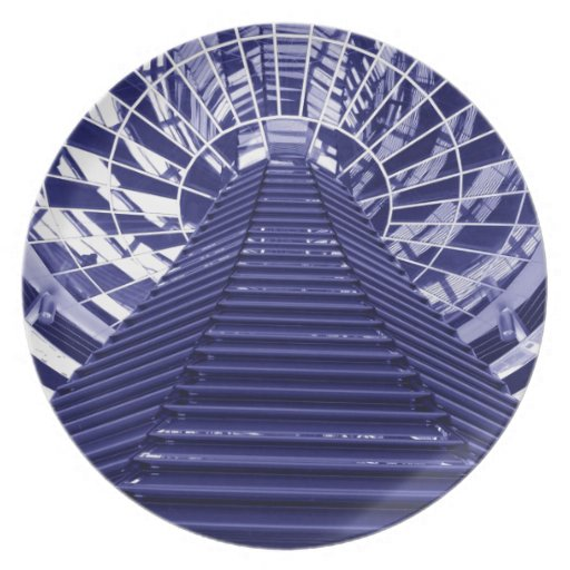 Abstract architecture design party plates