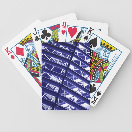 Abstract architecture design bicycle poker cards
