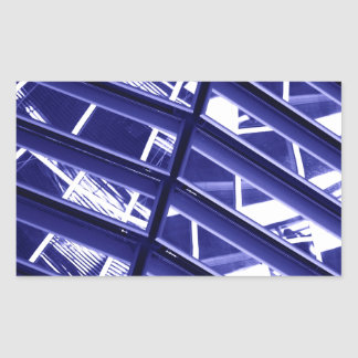 Abstract architecture design rectangle stickers