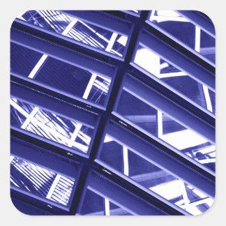 Abstract architecture design sticker