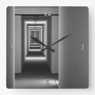Abstract Architecture Fine Art Square Wall Clock