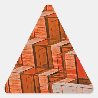 Abstract Architecture - Orange Triangle Sticker