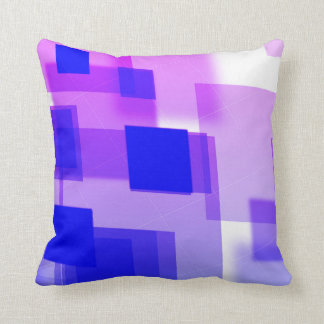Abstract argyle blue white purple Throw pillow