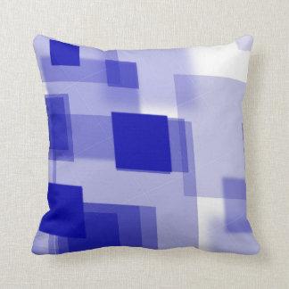 Abstract argyle blue white Throw pillow