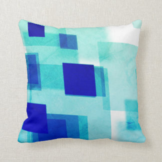 Abstract argyle blue white Throw pillow