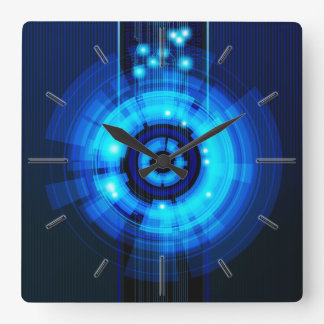 Futuristic Wall Clocks Zazzle Co Uk