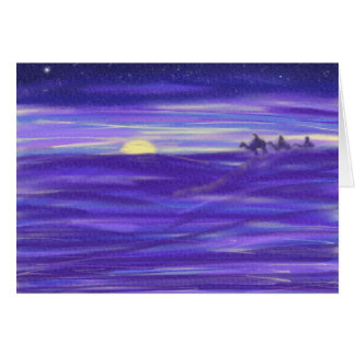Abstract art 3 wise men religious christmas card
