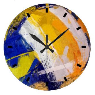 Abstract Art Beach Volleyball Clock