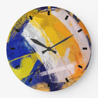 Abstract Art Beach Volleyball Large Clock