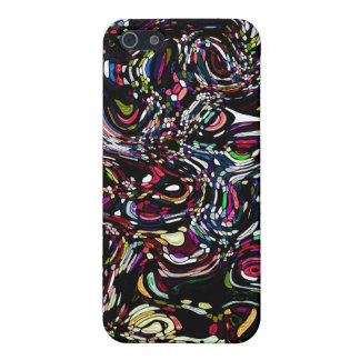 Abstract Art Black Swirl Red iPhone 5 Cover