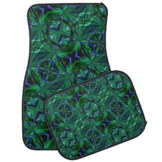 Abstract Art Blue and Green Car Mats Car Mat