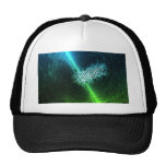Abstract Art Blue and Green Mesh Hats
