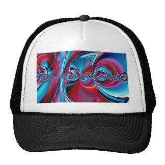 abstract art blue and red created by Tutti Cap