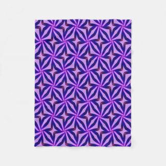 Abstract Art Blue Background Fleece Blanket