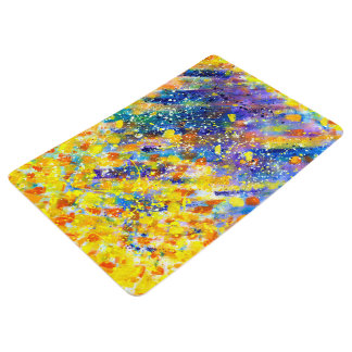 Abstract Art Blue Background Floor Mat