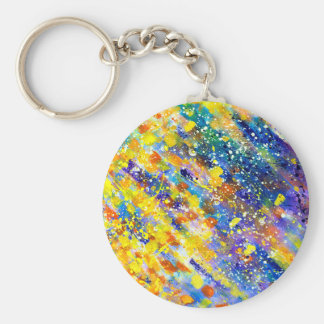 Abstract Art Blue Background Key Ring
