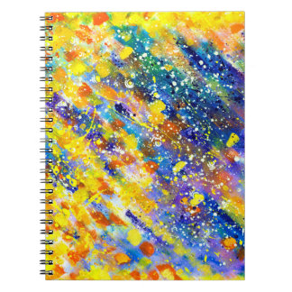 Abstract Art Blue Background Notebooks