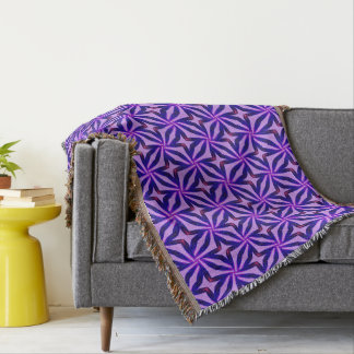 Abstract Art Blue Background Throw Blanket