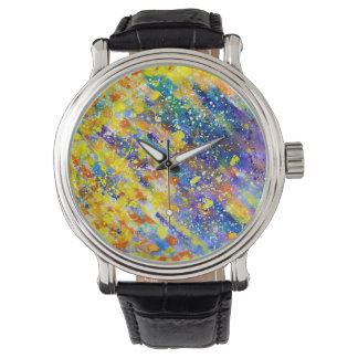 Abstract Art Blue Background Watch
