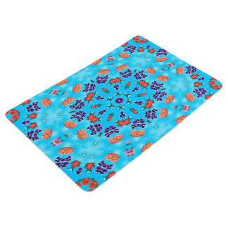 Abstract Art Blue Pink And Purple Floor Mat