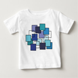 Abstract Art Blue Square Baby T-Shirt