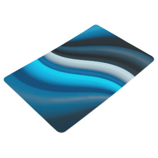 Abstract Art Blue Waves Floor Mat