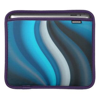 Abstract Art Blue Waves iPad Sleeve