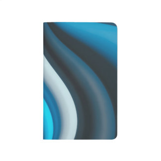 Abstract Art Blue Waves Journal